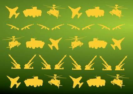 free vector Military Icons Pattern