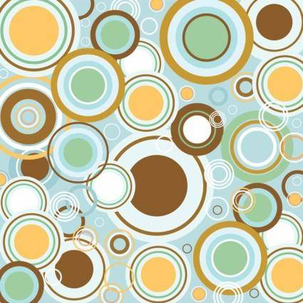 free vector Retro Circles Vector Pattern