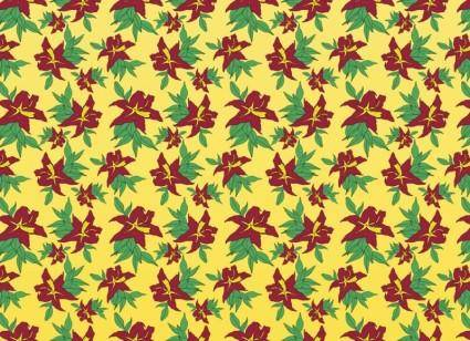 free vector Classic Flowers Pattern