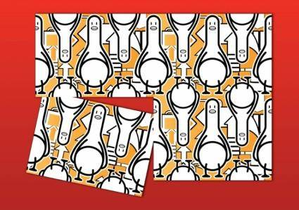 free vector Duck Cartoon Pattern