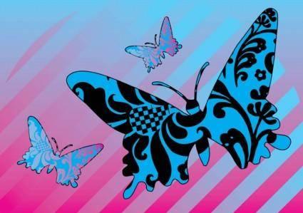 free vector Pattern Butterflies