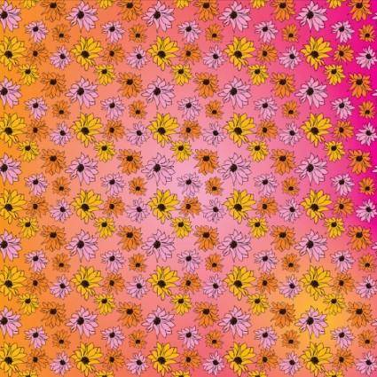 free vector Flowers Pattern Vector