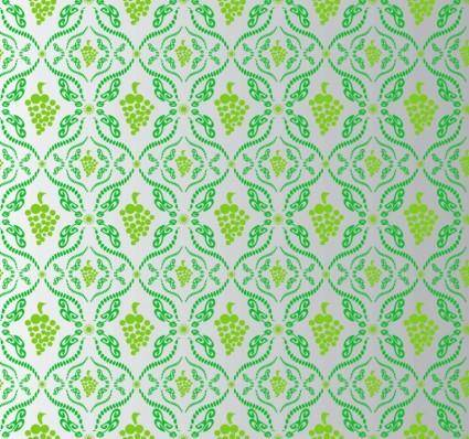 free vector Wine Grape Pattern