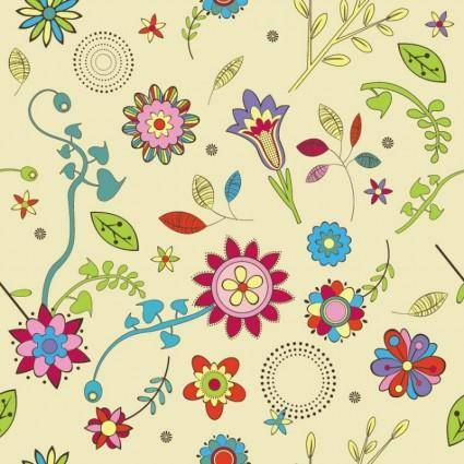 free vector Cute Flowers Wallpaper Pattern