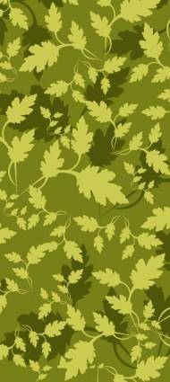 free vector Leaves Camouflage Pattern