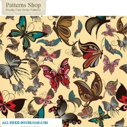 free vector Seamless butterflies repeat pattern