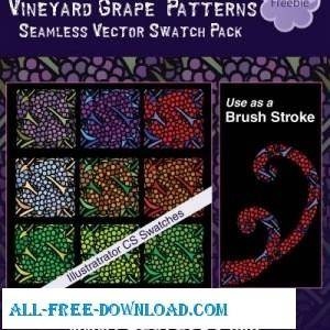 free vector Seamless Pattern Swatches Or Brushes