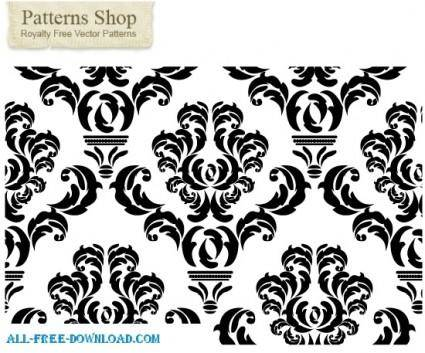 free vector Free damask repeat pattern