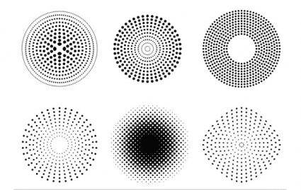 Vector Dots and Halftone Pattern 24542