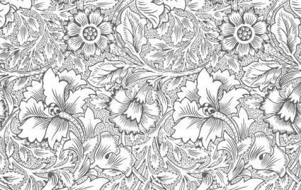 free vector Ornate flower pattern