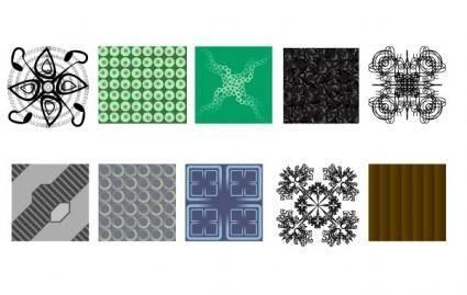 free vector 2 Foolish Pattern Pack