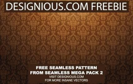 free vector Baroq Seamless Pattern