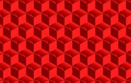 free vector Red Cubed Pattern