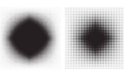 free vector 6 Halftone Patterns