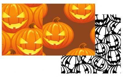 Free Vector Pumpkin Patterns ? Halloween Jack O Lanterns