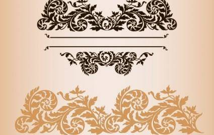 free vector Practical fashion exquisite lace pattern vector material