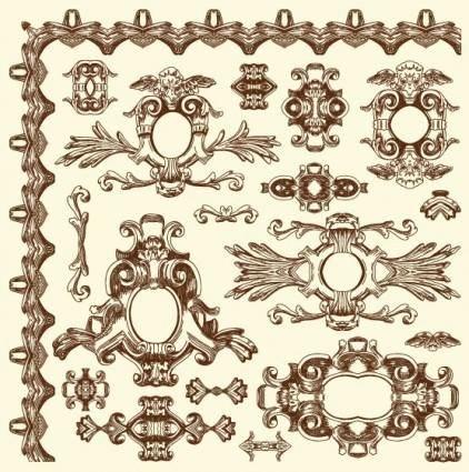 free vector European retro lace 07 vector