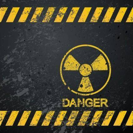 free vector Nuclear warning signs 04 vector