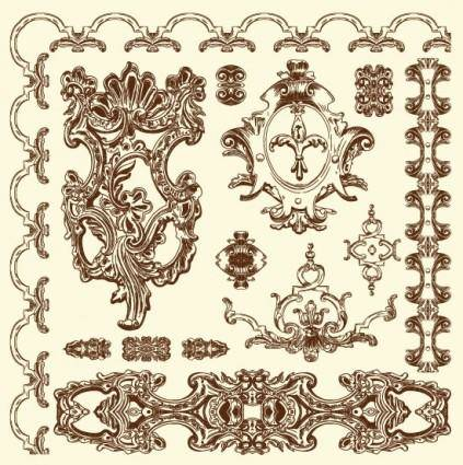 European retro lace 08 vector