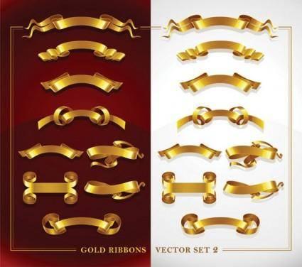 Beautiful gold ribbon clip art