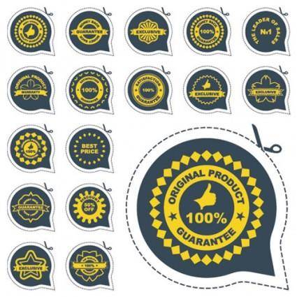 free vector All kinds of badge labels 04 vector