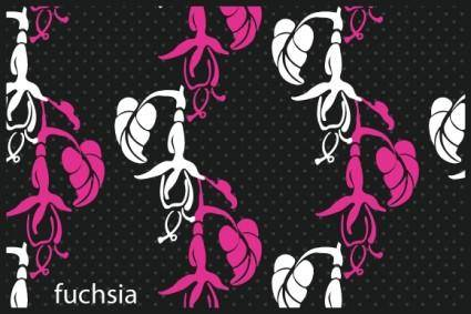 free vector Fuchsia Patterns