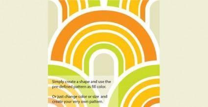 free vector Fifties wallpaper pattern