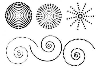 free vector Free dotted patterns