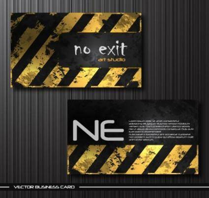 Old metal business card templates vector