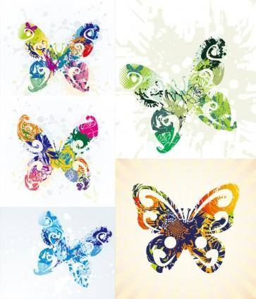 free vector Brilliant butterflies vector