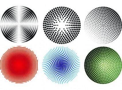 free vector Circular Halftone Patterns
