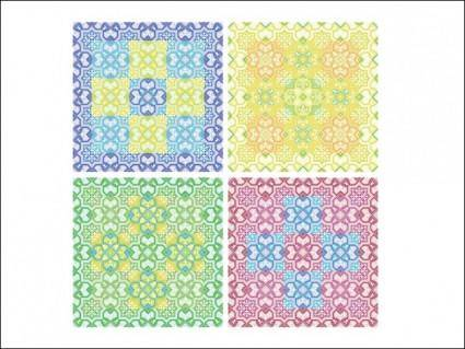 free vector Colored Patterns