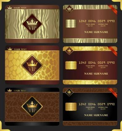 free vector Gorgeous jinzun vip card vector