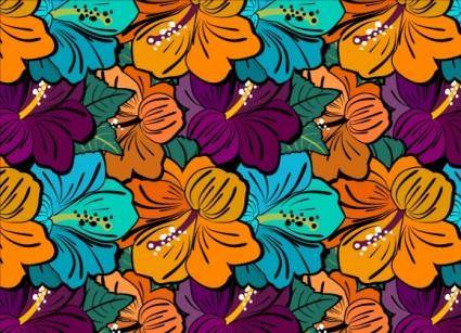 free vector Very flowery Ai free patterns