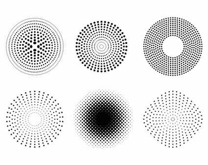 free vector Dots and Halftone Pattern