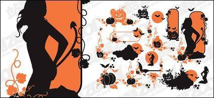 free vector Halloween theme vector pattern material