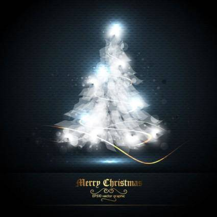 Beautifully halo christmas tree 01 vector
