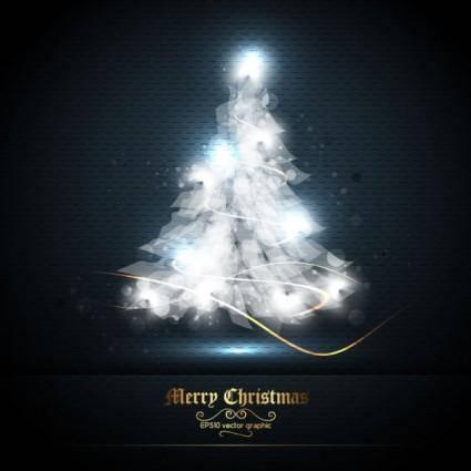 free vector Beautifully halo christmas tree 01 vector