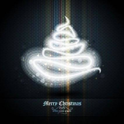 free vector Beautifully halo christmas tree 02 vector