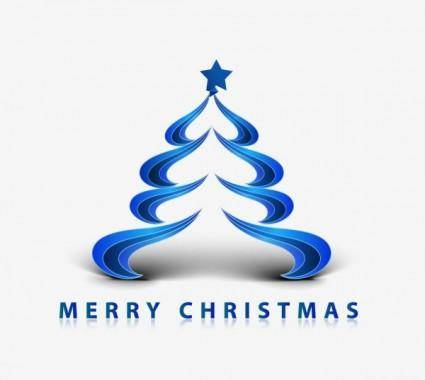 free vector Creative christmas tree 06 vector