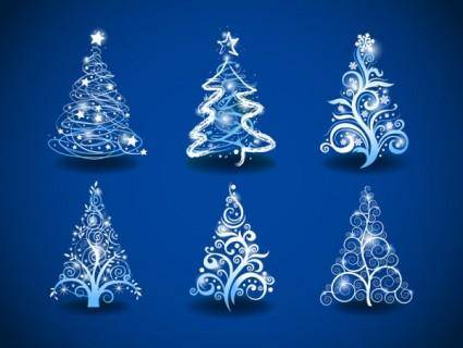 Gorgeous christmas tree 01 vector