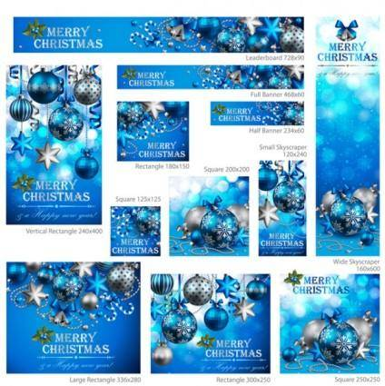 Exquisite christmas promotional 02 vector