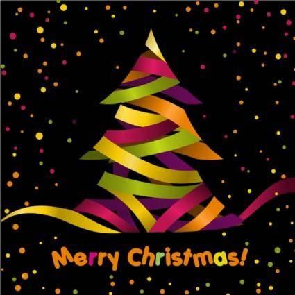 free vector Creative christmas tree 04 vector
