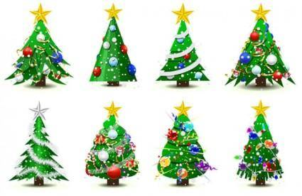 free vector Gorgeous christmas tree vector