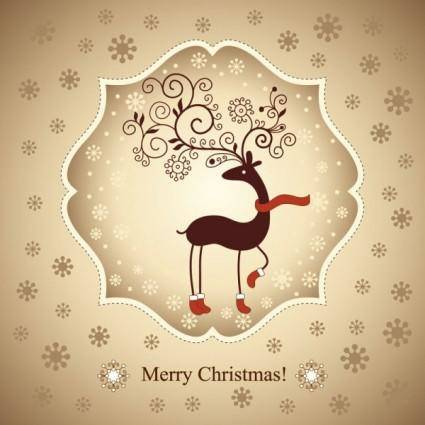 free vector Beautiful christmas greeting card 02 vector