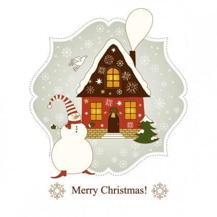 Beautiful christmas greeting card 04 vector