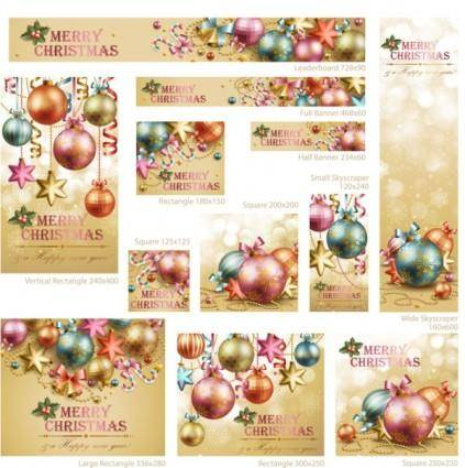 Beautiful christmas decoration elements 02 vector