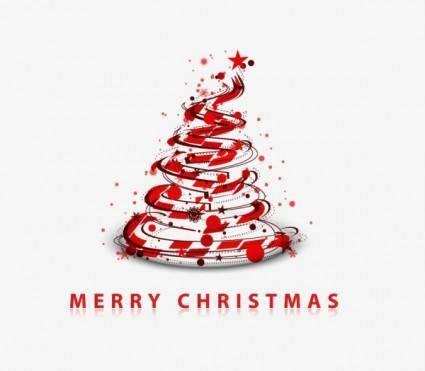 free vector Creative christmas tree 07 vector