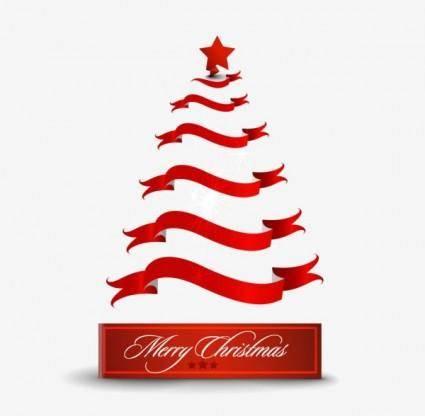 free vector Creative christmas tree 08 vector