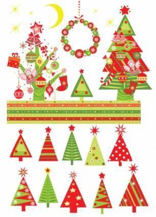free vector Christmas tree 02 vector